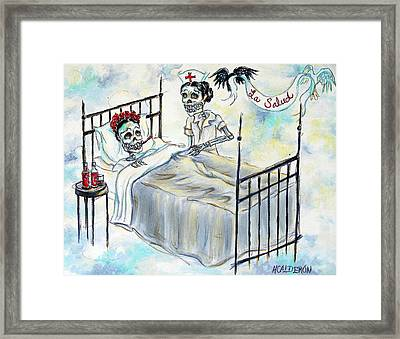 La Salud Framed Print by Heather Calderon