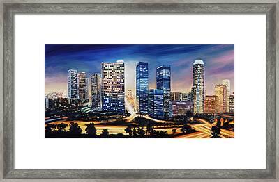 La Skyline Framed Print by Patrick Parker