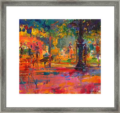 La Terrasse Du Jardin Framed Print by Peter Graham