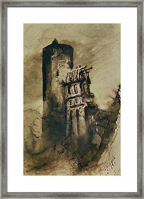 La Tourgue In 1835 Framed Print by Victor Hugo