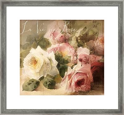 La Vie En Rose Framed Print by Mindy Sommers