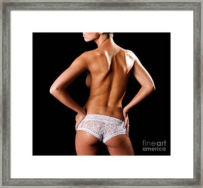 Lace Panties Framed Print by Jt PhotoDesign
