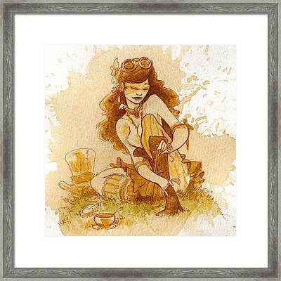 Laces Framed Print by Brian Kesinger
