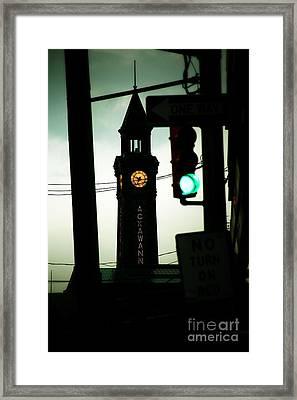 Lackawanna Clock Tower  Framed Print by Marina McLain