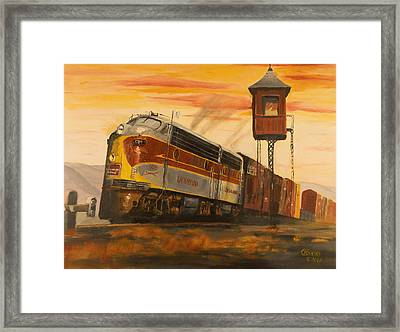 Lackawanna Fast Freight Framed Print by Christopher Jenkins