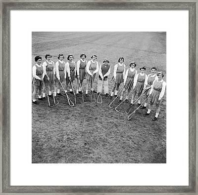 Lacrosse Team Framed Print by Orlando
