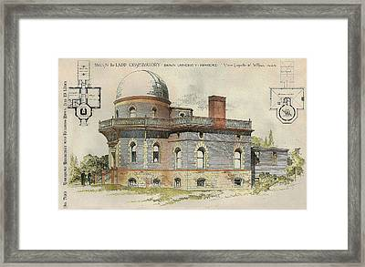 Ladd Observatory Brown University Providence Ri 1890 Framed Print by Stone Carpenter Wilson