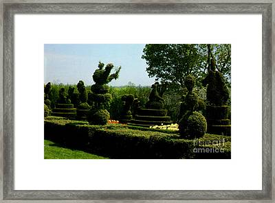 Ladew Topiary Gardens Framed Print by Ruth  Housley