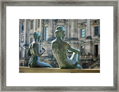Ladies By The River Framed Print by Joan Carroll