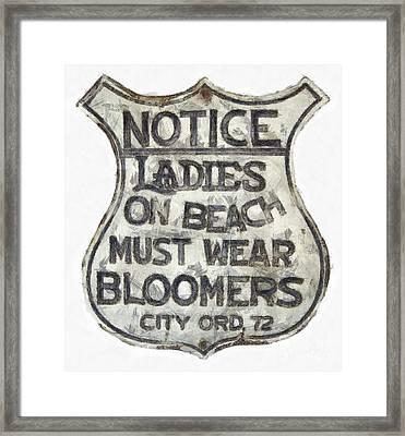 Ladies Must Wear Bloomers Framed Print by Edward Fielding