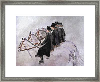 Ladies Of The Hunt Framed Print by Angela Davies