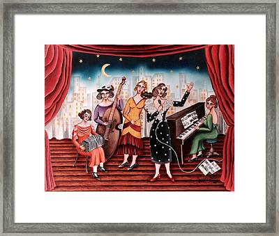 Ladies Orchestra Framed Print by Graciela Bello