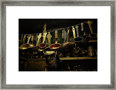 Ladles Of Tibet Framed Print by Donna Caplinger