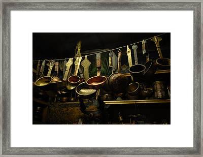 Ladles Of Tibet Framed Print by Donna Caplinger