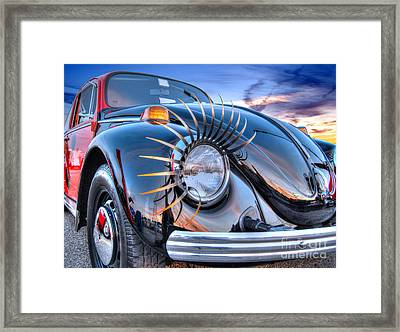Lady Bug Framed Print by Guy Harnett