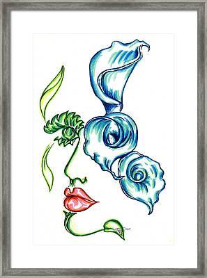 Lady Calli Lilly Framed Print by Judith Herbert