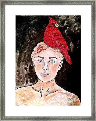 Lady Cardinal Framed Print by Amy Sorrell