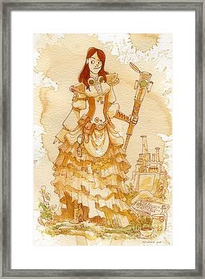 Lady Codex Framed Print by Brian Kesinger
