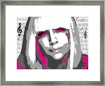 Lady Gaga Framed Print by Brad Scott