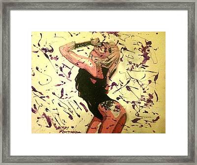 Lady Gaga Framed Print by Nikki Portanova