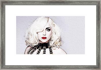 Lady Gaga Framed Print by Iguanna Espinosa