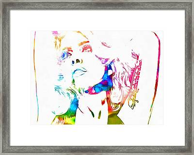 Lady Gaga Watercolor Framed Print by Dan Sproul
