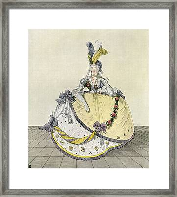 Lady In A Ball Gown At The English Framed Print by Vintage Design Pics