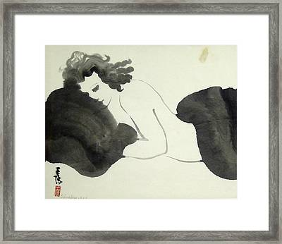 Lady In Mink 3 Framed Print by Ying Wong