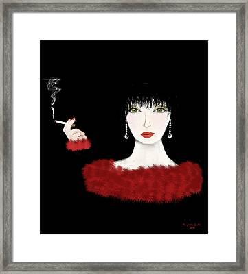 Lady In Red Art Deco Framed Print by Tanya Van Gorder