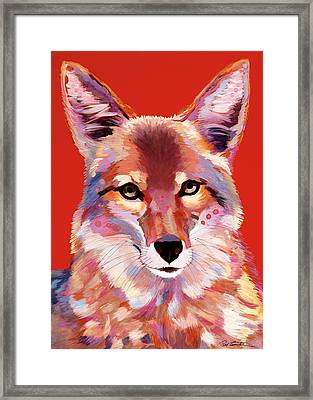 Lady In Red Framed Print by Bob Coonts