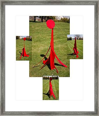 Lady In Red Framed Print by Mac Worthington