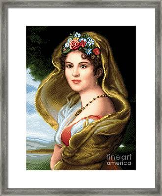 Lady In Veil Framed Print by Stoyanka Ivanova