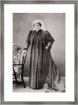 Lady Isabel Burton,1831-1896. Wife Of Framed Print by Vintage Design Pics