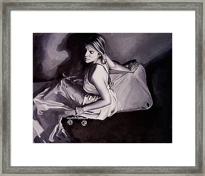 Lady Justice  Black And White Framed Print by Laura Pierre-Louis