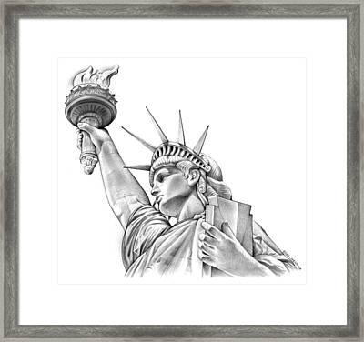 Lady Liberty Framed Print by Greg Joens