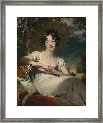 Lady Maria Conyngham Framed Print by Thomas Lawrence