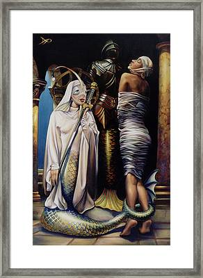 Lady Of The Lake Framed Print by Patrick Anthony Pierson