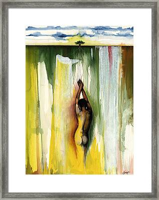 Lady Rooted Ground Framed Print by Anthony Burks Sr