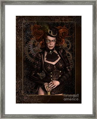 Lady Steampunk Framed Print by Shanina Conway