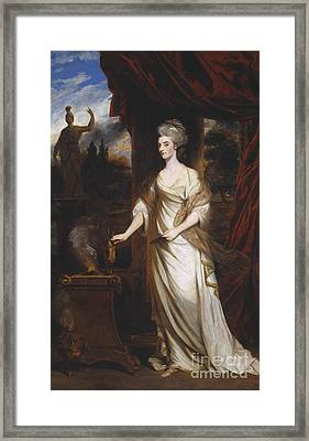 Lady Talbot Exhibited Framed Print by Joshua