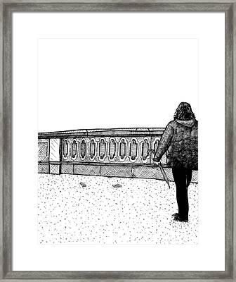 Lady Walking Framed Print by Karl Addison