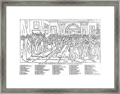 Lady Washington's Reception Framed Print by Granger