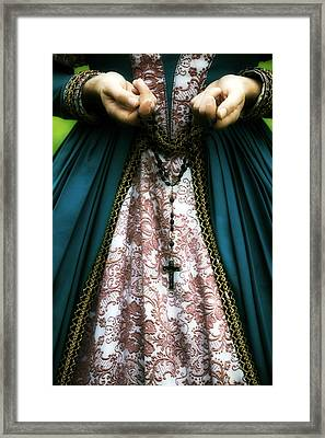 Lady With Rosary Framed Print by Joana Kruse