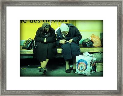 Ladys In Paris Metro Framed Print by Daniel Gomez