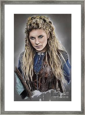 Lagertha Framed Print by Melanie D
