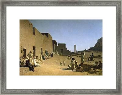 Laghouat In The Algerian Sahara Framed Print by Gustave Caillebotte