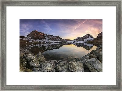 Lago Enol Framed Print by Glendor Diaz Suarez