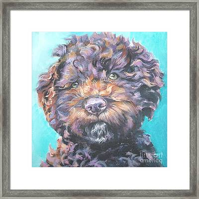 Lagotto Romagnolo Framed Print by Lee Ann Shepard