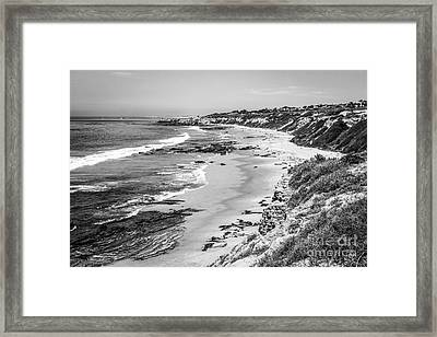 Laguna Beach Ca Black And White Photography Framed Print by Paul Velgos