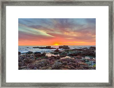Laguna Beach Tide Pools At Sunset Framed Print by Eddie Yerkish